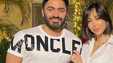 Photo of ملامح تامر حسني وبسمة بوسيل تثير الجدل.. هل خضعا لعملية تجميل؟