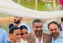 Photo of اللوك الثاني لـ محمد فراج وبسنت شوقي في حفل الزفاف (فيديو)